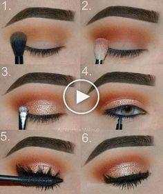 Gorgeous Makeup: Tips and Tricks With Eye Makeup and Eyeshadow – Makeup Design Ideas Eye Makeup Steps, Makeup Eye Looks, Cute Makeup, Skin Makeup, Eyeshadow Makeup, Drugstore Makeup, Makeup Brushes, Makeup Inspo, Makeup Inspiration