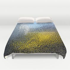Condensation 03 - White House and Yellow Lorry Duvet Cover by Pete Edmunds - $99.00