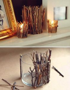 Rustic Candle Jar DIY