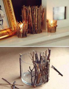 Rustic Candle Jar DIY