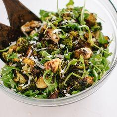 Roasted Broccoli, Arugula and Lentil Salad. Looks delicious...