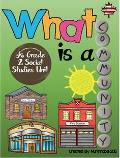 What is a Community? A Grade 2 Alberta Social Studies Unit Social Studies Worksheets, Social Studies Activities, Teaching Social Studies, Teaching Activities, Student Teaching, Classroom Activities, Teaching Ideas, Classroom Ideas, Social Studies Communities