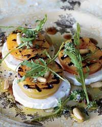 Grilled Apricot, Arugula and Goat Cheese Salad - Grilled Appetizers from Food & Wine