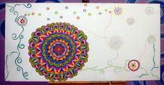 Pintura em Tela - Mandalas by ALÉM DA RUA ATELIER/Veronica Kraemer, via Flickr