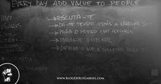 adicionar valor às pessoas