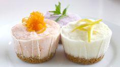 Mini @chobani frozen yogurt cakes: blueberry lemon, lemon ginger, carrot cake