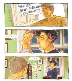 The dark truth behind Sherlock's fabulous curls...