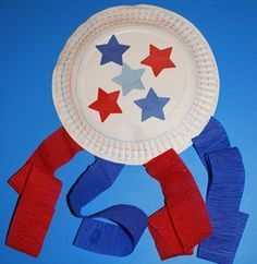 52 DIY July Independence Day Crafts for Kids - Kids Names - Ideas fo Kids Names - DIY July Independence Day Crafts : Paper Plate Flag Decorative 4th July Crafts, Fourth Of July Crafts For Kids, Patriotic Crafts, 4th Of July, Patriotic Party, Toddler Art, Toddler Crafts, Infant Crafts, Preschool Crafts