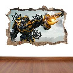 Transformers 4 Bumblebee hole in the wall feature by aztecgraphics
