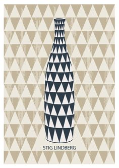 Poster Vase designed by Stig Lindberg Swedish by HomePosters, Swedish Style, Swedish Design, Scandinavian Pattern, Scandinavian Style, Stig Lindberg, Exhibition Poster, Typography Prints, Graphic Patterns, Cool Posters