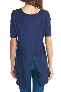 82 Days Women'S Rayon Short Sleeves Comfy Tunic With Back Open Detail - Navy M 82 Days http://www.amazon.com/dp/B00UUF2W60/ref=cm_sw_r_pi_dp_dYUivb1XR20E6