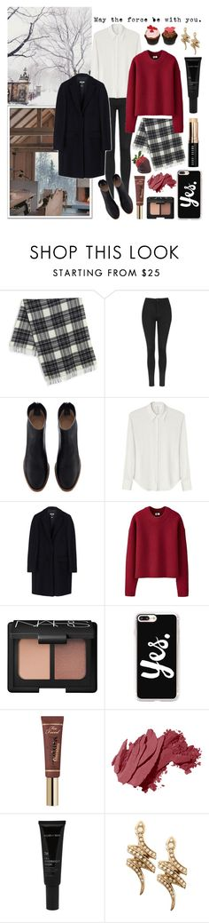 """""""Winter in Norway #norway #winter #travel"""" by gorgeousjuliet ❤ liked on Polyvore featuring Weekend Max Mara, GET LOST, Topshop, David Michael, MSGM, Uniqlo, NARS Cosmetics, Casetify, Disney and Bobbi Brown Cosmetics"""