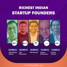 A big gainer has been Byju Raveendran, co-founder, and CEO of BYJU'S – the world's most valued edtech startup. Byju and his family saw their wealth grow by 115% – from ₹7,700 crores last year to ₹20,400 crores in this year's list. #paytm #byjus #zerodha #infoedge #medianet #richestindian #startup #rich #company #sharemarket #stockmarket #googleads #paytmmoney #blogstellar Google Ads, Co Founder, Stock Market, Wealth, Internet, Facts, Big