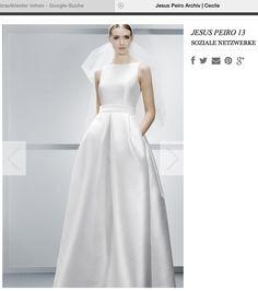 Hochzeitskleid mit Tasche / schlichter Schnitt