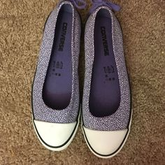 Purple Converse Flats Womens Size 7 Purple and white Converse Flats in excellent condition. Womens size 7. No trades. Converse Shoes Flats & Loafers