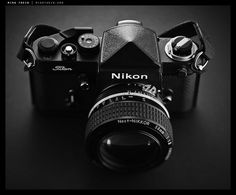 Nikon F2 Titan with Noct-Nikkor 58 1.2 A titanium camera made to withstand the battlefield.