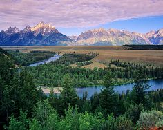 This is the Snake River in Wyoming. About 15 years ago I took a horse trail through here, and it is still, without a doubt, one of the most beautiful places on earth.