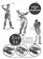 Foot Joy Golf Shoes 1958 Ad Picture