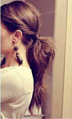 Twist on a classic pony #hair #brunette www.lkhair.com