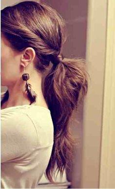 Twist on a classic pony #hair #brunette www.lkhair.com