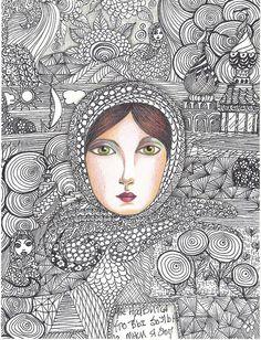 art journal inspiration - #doodle #zentangle #zendoodle