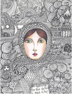 russian woman by angelpainter1, via Flickr. Amazing art by angelpainter1: http://www.flickr.com/photos/30144718@N06/#