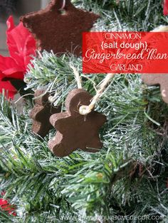 Cinnamon Salt Dough Gingerbread Man Garland by sewlicioushomedecor