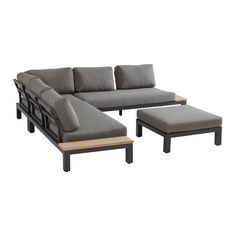 shop bij vtwonen by fonQ! Modular Lounges, Corner Unit, Dining Set, Outdoor Furniture, Outdoor Decor, Outdoor Living, Living Spaces, Cushions, Couch