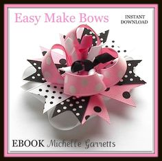 Super Bowl Cheerleader Hair Bow instructions! « How to make Hair bows w/ Ribbon Spikes