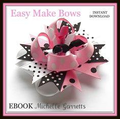 Super Bowl Cheerleader Hair Bow instructions! « How to make Hair bows w/ Ribbon Spikes