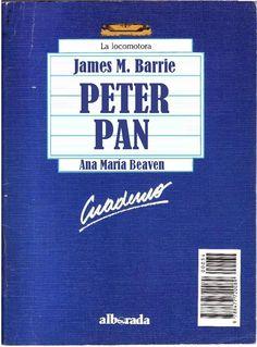 """Género: Cuaderno de actividades escolares (sobre la obra """"Peter Pan"""", de James M. Barrie. Editorial: Alborada Ediciones (Col. """"La locomotora"""") Publicación: Madrid, 1988."""
