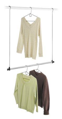 Amazon.com - Whitmor 6021-378 Ebony Chrome Collection Double Closet Rod - Closet Storage And Organization Products