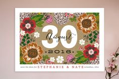 Cottage Garden Save the Date Cards by Alethea and Ruth at minted.com