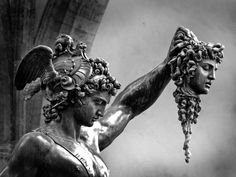 Cellini Benvenuto's sculpture of Perseus with the head of Medusa.