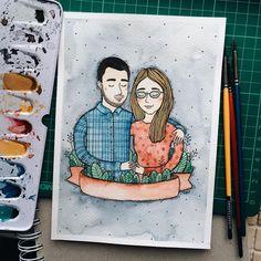 ❤️ . . #samoshkina_art #illustration #illustrations #dailyart #art #artist #art_we_inspire #art_spotlight #art_public #inspire #instaart #wearevsco #vscoart #vscocam #watercolors #watercolorart #aquarelle #cute #toppaint #topdraw #topcreator #globalart #topart #painteveryday #detail #soulart #artcitchen #eatsleepdraw #artbook #illustrationartists