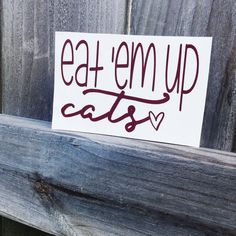 Eat 'Em Up Cats  Texas State Bobcats Decal  Yeti by CircleLDesigns