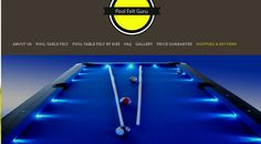 Need new billiard cloth? We have it. FREE Shipping on all felt for your pool table including Your very own Custom creation. -- http://www.poolfeltguru.com/