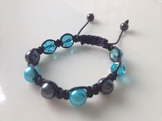 "turquoise and gray ""Tiffany"" bracelet"
