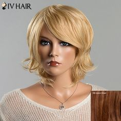 Women's Short Fluffy Tail Upwards Fashion Side Bang Siv Human Hair Wig #>=#>=#>=#>=#> Click on the pin to check out discount price, color, size, shipping, etc. Save and like it!