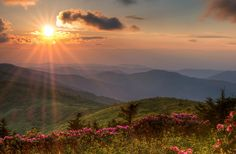 Sunset in the mountains of NC