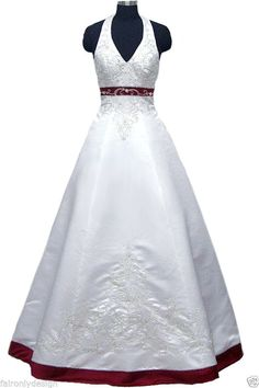 Faironly New Embroidery Custom Wedding Dress Bridal Gown Size 6 8 10 12 14 16+++