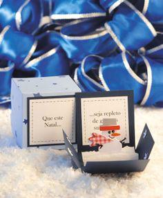 Cartão natalino de scrapbooking - DIY, Christmas, Craft