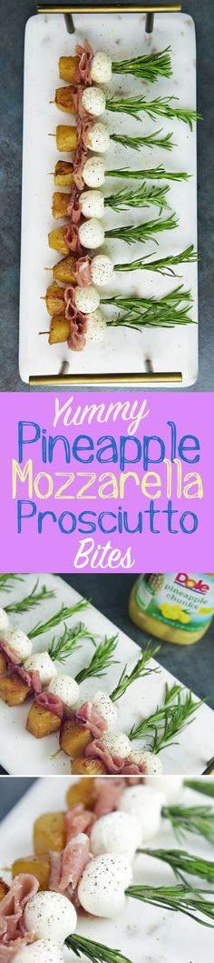 These gorgeous pineapple, mozzarella and prosciutto appetizers could not be easier to make, but they look incredibly impressive. Skewer Appetizers, Appetizers For Party, Appetizer Recipes, Yummy Eats, Yummy Food, Party Side Dishes, Cocktails, Drinks, Food For Thought