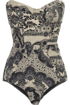Zimmermann | Collision underwired printed swimsuit