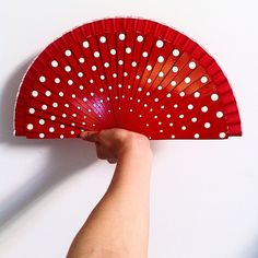 """""""Buenos días.  #goodmorning souvenir #fan from #Girona #red #pois #flamenco #Spain #passion #thehatchaser #travel #picoftheday #style #follow #instagood…"""""""