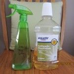 Mosquito and fly repellent. Listerine in a clean spray bottle. Spray around table and chairs outdoors.