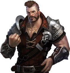 Male fighter warrior ruffian