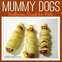 Mummy Dogs. Fun Halloween snack for kids.