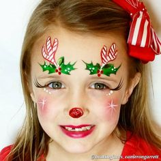 (from last year) Super fast and super popular! How can you learn tricks if you're … Face Painting Images, Face Painting Designs, Body Painting, Face Paint Makeup, Eye Makeup, Reindeer Face Paint, Tinta Facial, Christmas Face Painting, Cheek Art