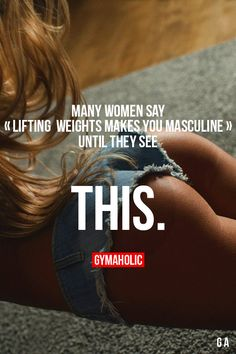 Many Women Say Lifting Weights Makes You Masculine